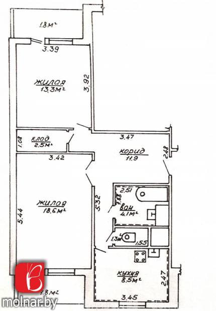, 11  2-х комнатная квартира с прелестями загородной жизни в п