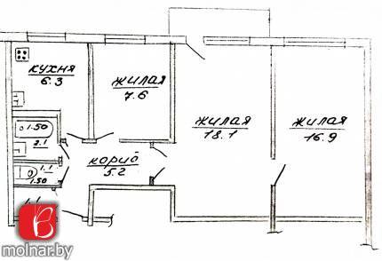 Продается 3-х комнатная квартира в г.Гродно по ул. Домбровского, 35