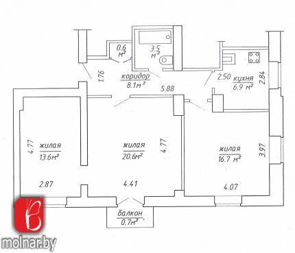 3-комнатная квартира для продажи