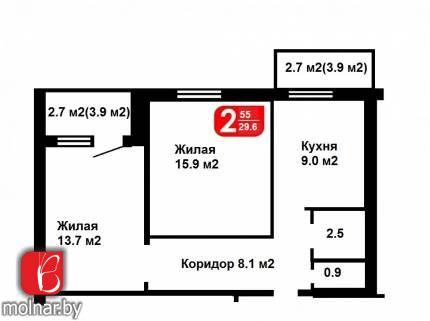 , 30  Продаётся 2-х комнатная уютная квартира, в тихом центре Минска