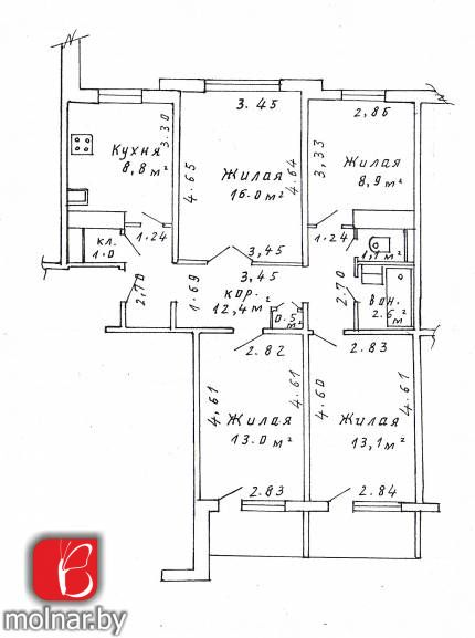 Продается 4-комнатная квартира по ул. Чайлытко, д. 3