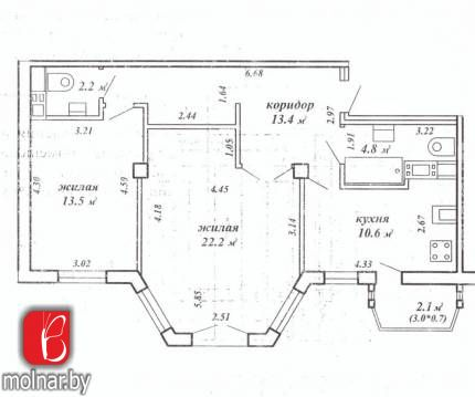квартира 2 комнаты по адресу Минск, Панченко ул