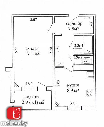 Продается однокомнатная квартира в микрорайоне