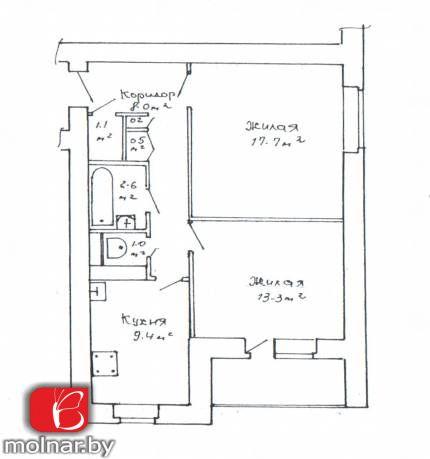 квартира 2 комнаты по адресу Минск, Воронянского ул