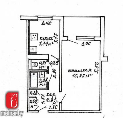 , 30  Продается аккуратная теплая и светлая квартира в экологически чистом районе Уручье