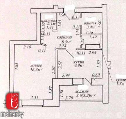 , 116  1 комнатная квартира  в новостройке г