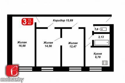 Купить квартиру - Первомайская  24