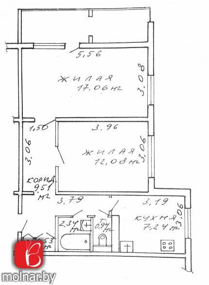 2-х комнатная квартира с хорошей планировкой