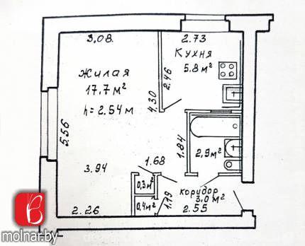 1-комнатная квартира в кирпичном доме по ул. Чкалова (метро Институт культуры)!