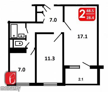 Купить квартиру - Мирошниченко  10