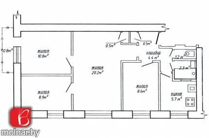 Продаётся квартира, аккуратно подготовленная к ремонту. ул.Р.Люксембург,170