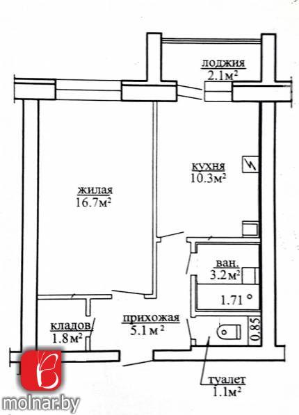 квартира 1 комната по адресу Замосточье, Центральная ул