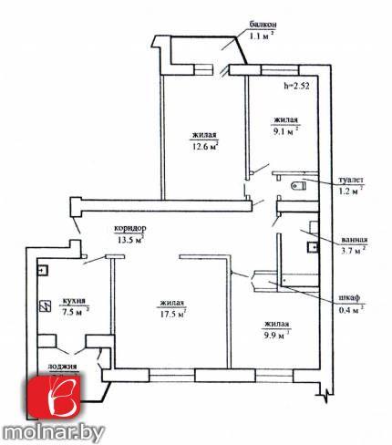 квартира 4 комнаты по адресу Ждановичи, Линейная ул