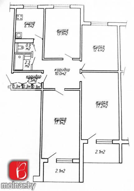 квартира 4 комнаты по адресу Минск, Водолажского ул