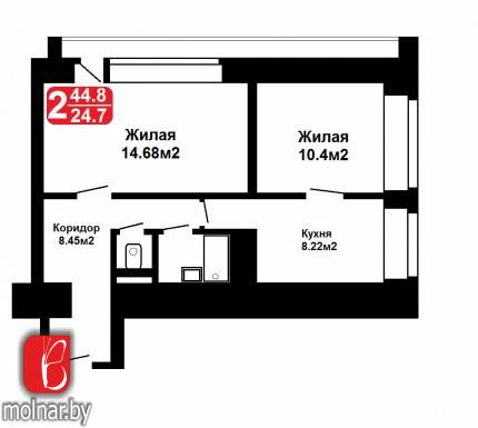 Продается аккуратная 2-х комнатная квартира  рядом с метро. ул.Ванеева,4