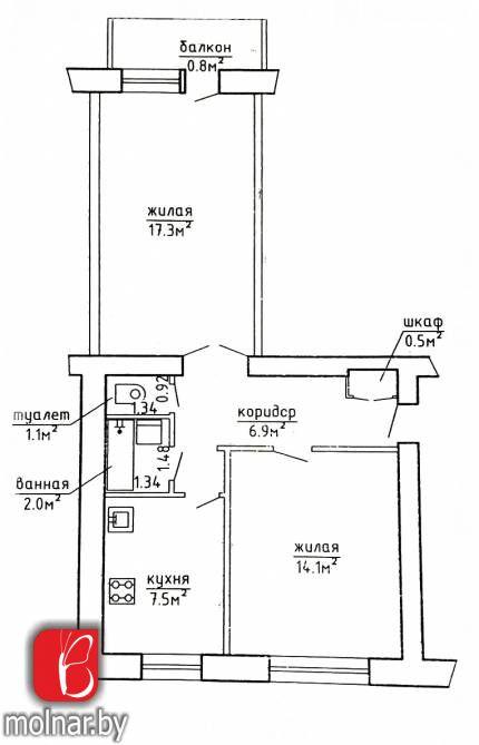 квартира 2 комнаты по адресу Борисов, , 2  Срочно продается 2-комнатная квартира возле г
