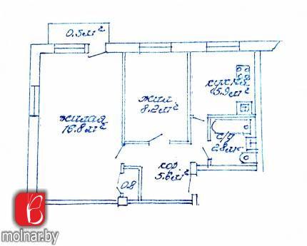 квартира 2 комнаты по адресу Борисов, Чапаева ул