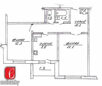 Продаём 2-х комнатную квартиру в г. Гродно по ул. Кабяка, д. 4 корп.3