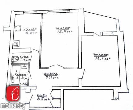 Продаётся 2-х комнатная квартира в г.Молодечно (р-н Геленово)