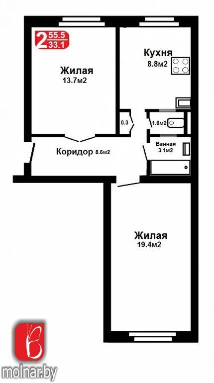 Продажа двухкомнатной сталинки.  пр.Независимости,48