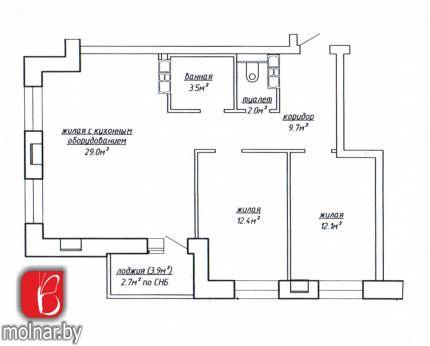 , 54  Продаётся 3-х комнатная квартира с ремонтом