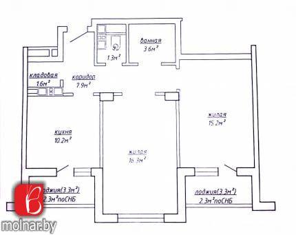 , 105  Продается 2-х комнатная квартира в хорошем доме в 5 минутах до метро