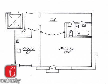 Продаётся однокомнатная квартира чешской планировки г.Гродно, б-р Ленинского Комсомола,42